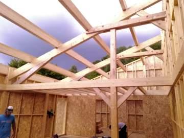 Montage d'une maison ossature bois à Dorres