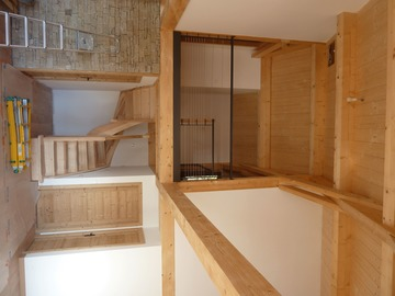 Construction neuve de maison à ossature bois sur Les Angles